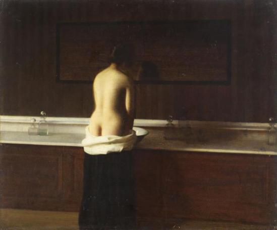 Eugène Lomont. Jeune femme à sa toilette 1893
