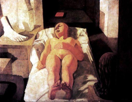 Felice Casaroti. Fanciulla dormiente 1932