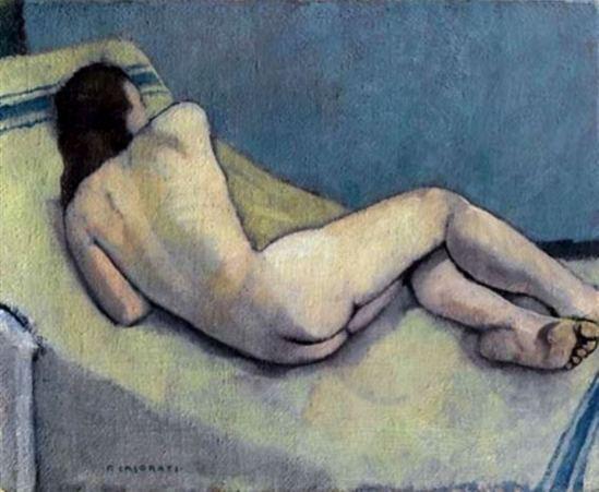 Felice Casaroti. Nudino o nudo disteso sul panno 1937-1938