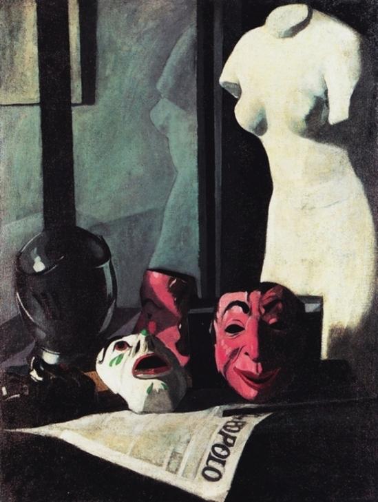 Felice Casorati. Masks 1921