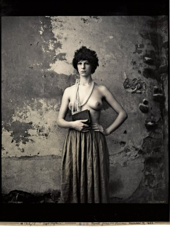Jan Saudek. Superstriptease 1989. Via liveauctioneers