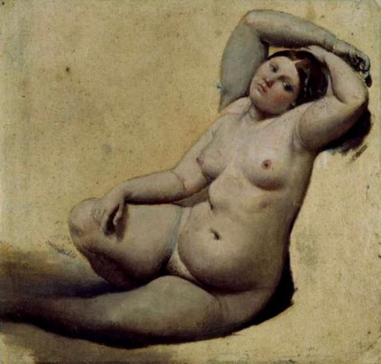 Jean Auguste Dominique Ingres. La femme aux trois bras avant 1862