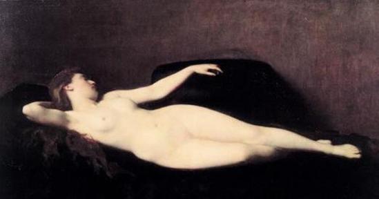 Jean-Jacques Henner. Femme au divan noir 1869