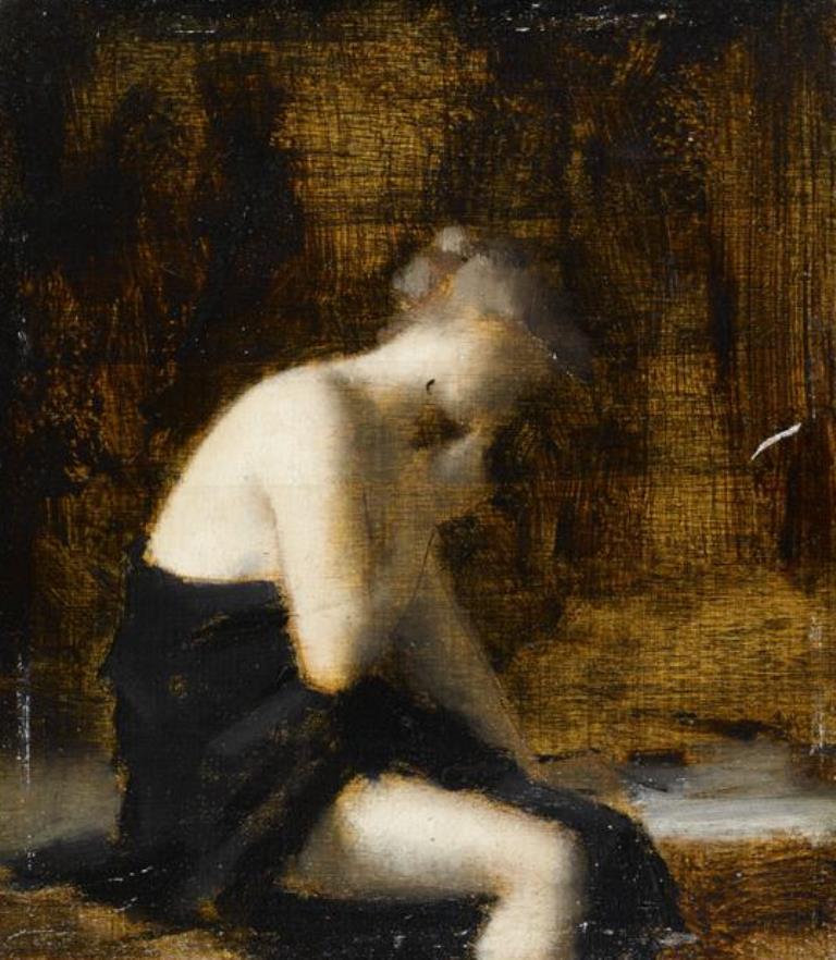 Jean-Jacques Henner. Femme drapée assise