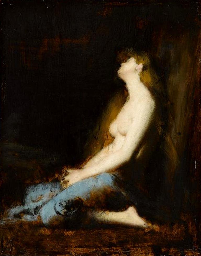 Jean-Jacques Henner. La Magdeleine, étude ou réplique du tableau du salon de 1878