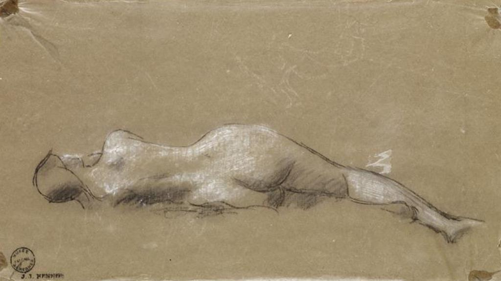 Jean Jacques Henner. Nu féminin couché de dos
