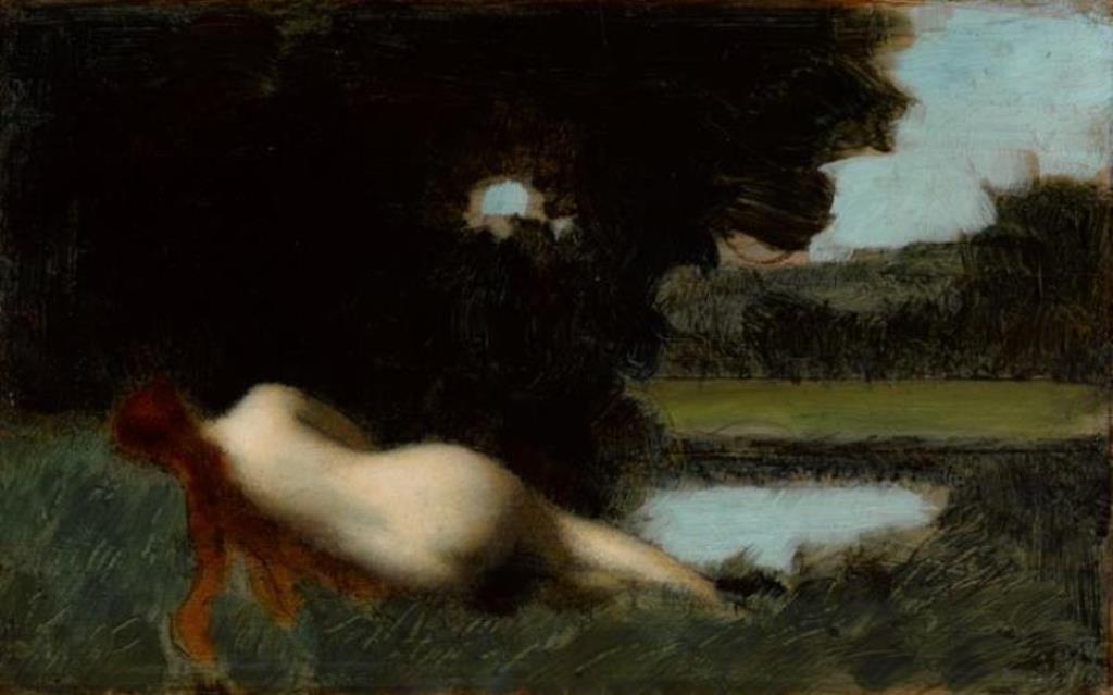 Jean-Jacques Henner. Rêve ou la nymphe endormie vers 1896-1900