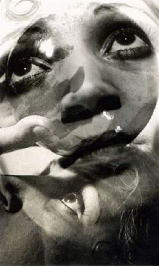 Jean Moral. Surimpression de visages 1926. Via artnet