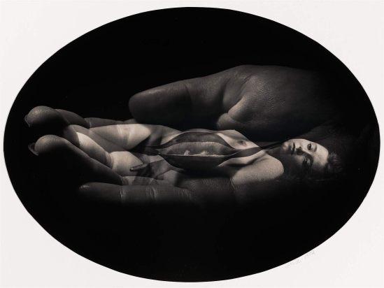 Jerry Uelsmann. Nude, hand, pod 1972. Via mfa (3)