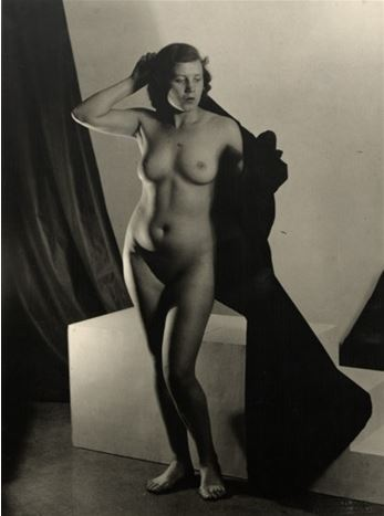 Josef Vetrovsky. Female nude standing 1928. Via artnet