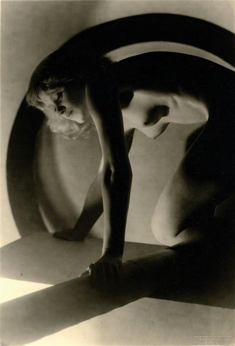 Josef Vetrovsky. Female nude with geometric shapes 1929. Via artnet