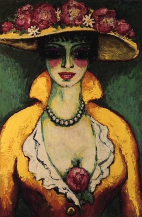 Kees van Dongen, Woman with flowered hat, 1915-1918