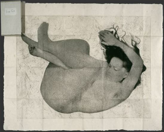 Kiki Smith. Free fall 1994. Photogravure, etching, and sanding. Via ulae