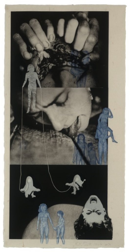 Kiki Smith. Puppet, 1993–1994. Photogravure with etching, aquatint, and additions of collage and string. Via moma