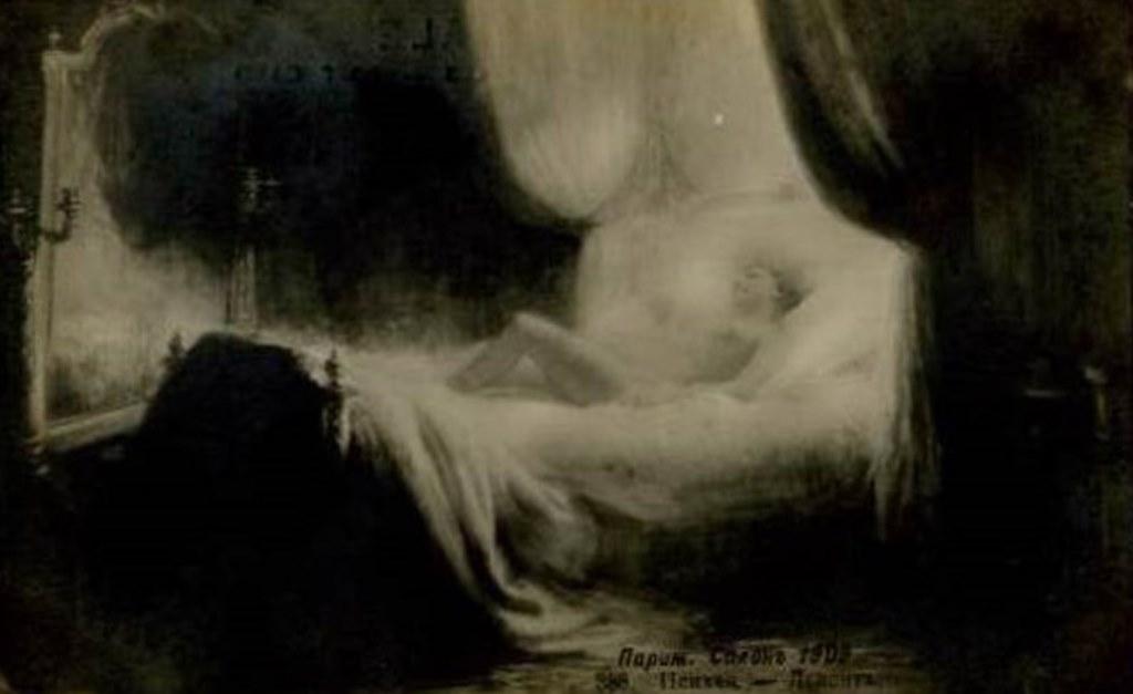 Lekonte. Nymph.Vintage postcard Paris Salon 1909. Via delcampe