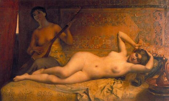Louis Courtat. Odalisque vers 1840
