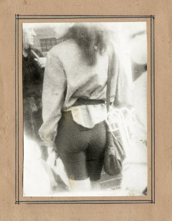 Miroslav Tichy. Woman pedestrian from behind. 1980s. Via liveauctioneers