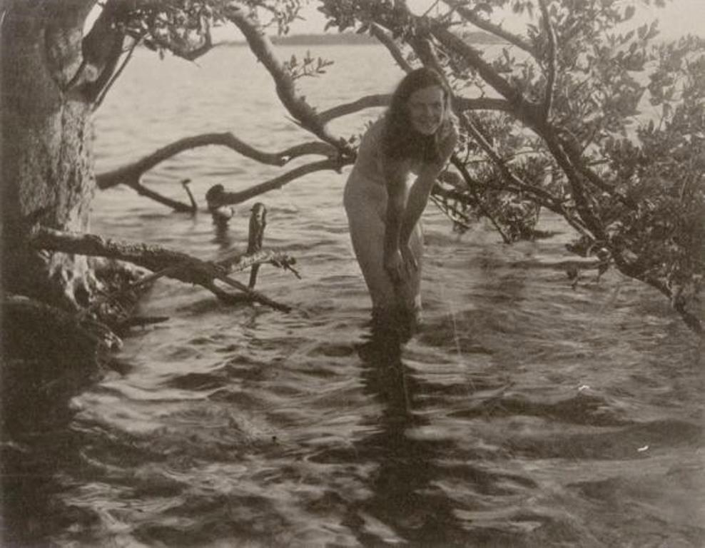 Nell Dorr. Nude girl standing in water 1929. Via cartermuseum
