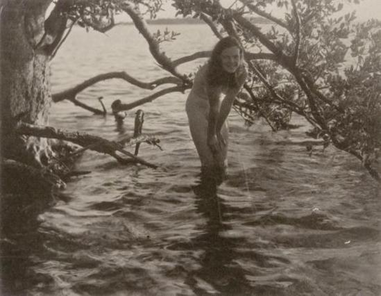 Nell Dorr. Nude girl standing in water 1929. Via cartermuseum