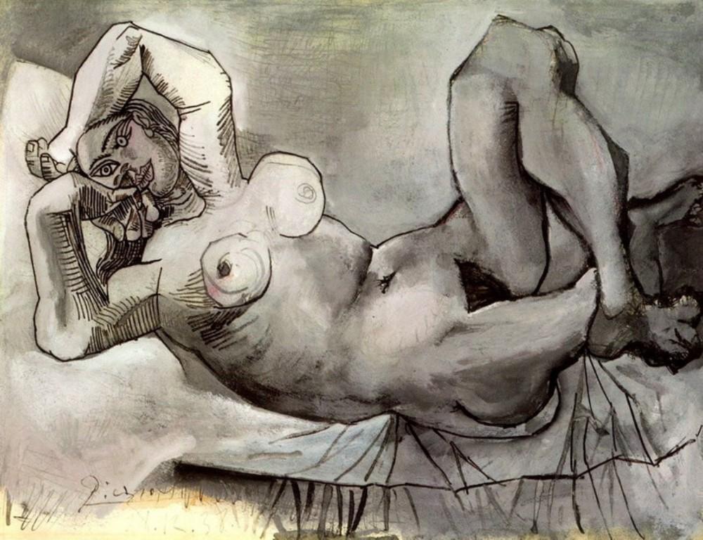 Pablo Picasso. Femme couchee (Dora Maar) 1938