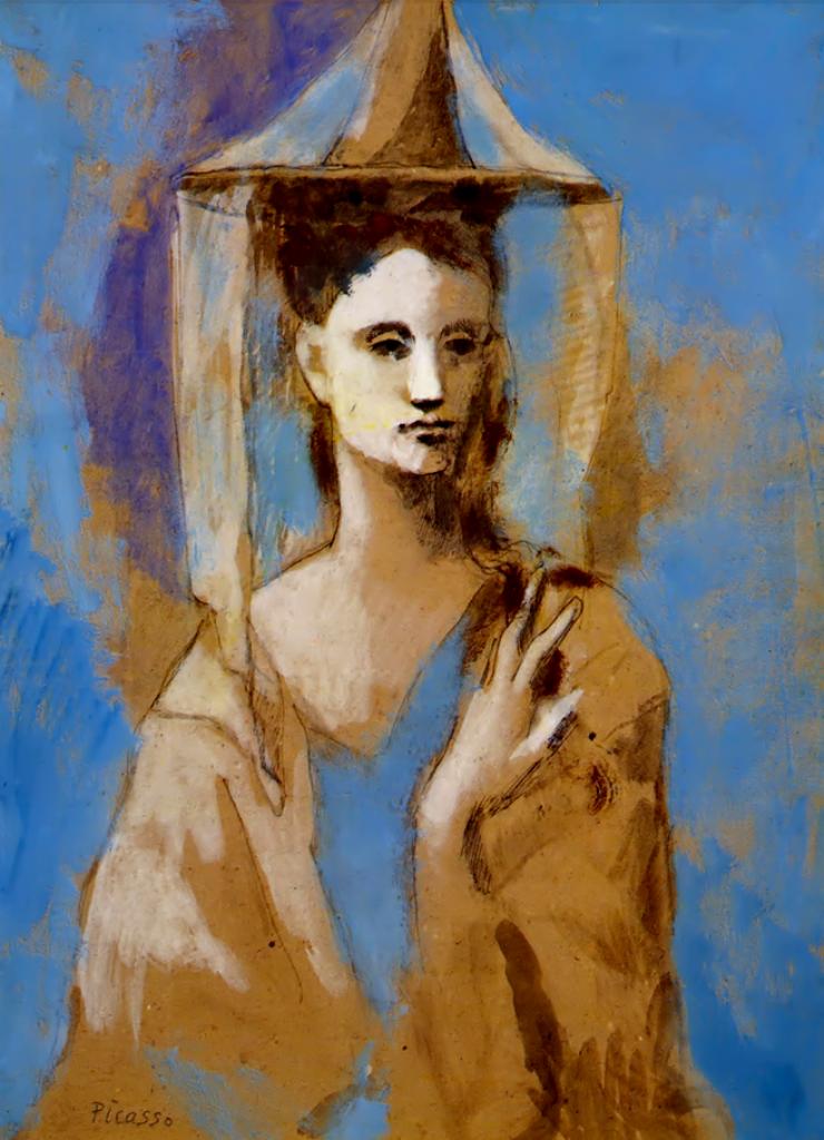 Pablo Picasso. Mallorquine étude pour Les Bateleurs 1905.jpg