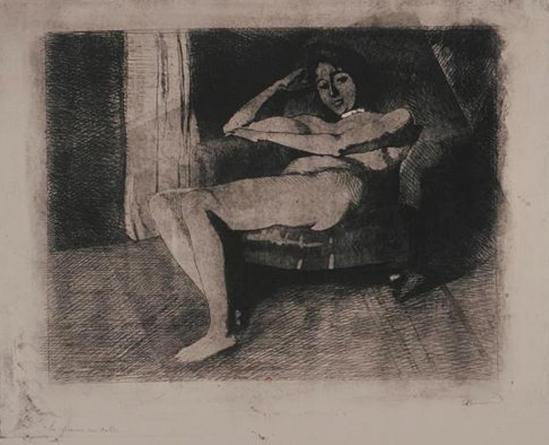 Paul Albert Besnard (1849-1934). Féerie intime, la femme au collier