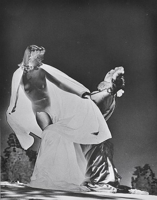 Paul Heismann. Solarized female nude 1940s.Via invaluable