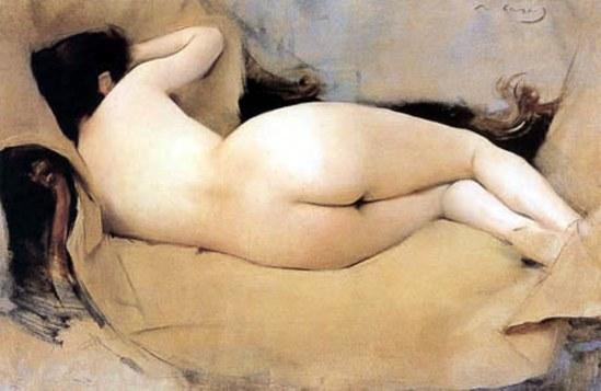 Ramon Casas i Carbó. Reclining nude 1894