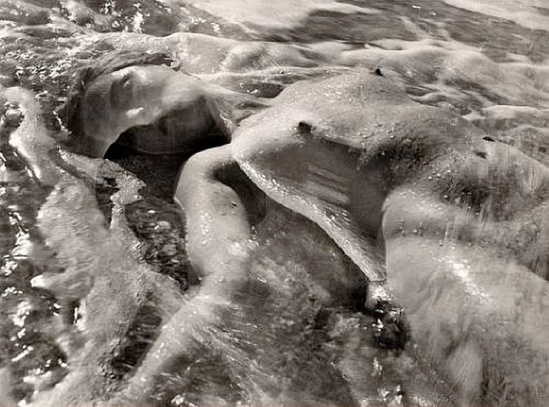 Ruth Bernhard. In the waves 1945. Via bonhams