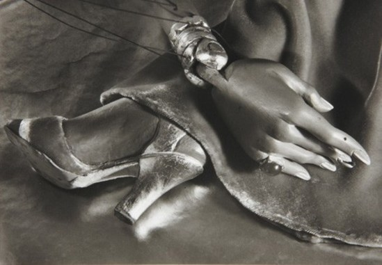 Ruth Bernhard. Puppet hand and foot, Hollywood, California 1938. Via liveauctioneers