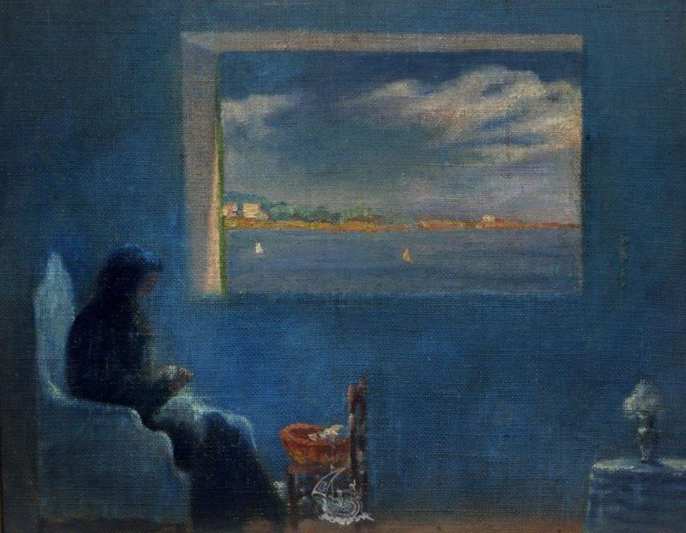 Salvador Dali. Portrait de la grand-mère cousant 1920