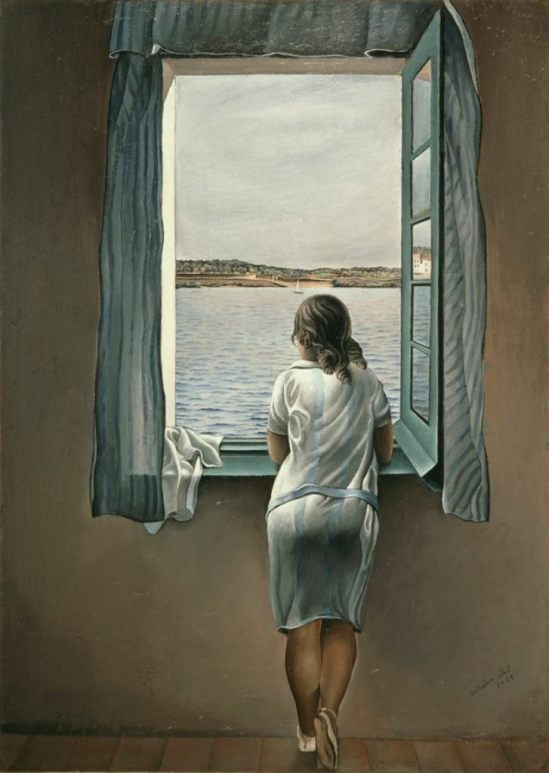 Salvador Dali. Woman at the window at Figueres 1926