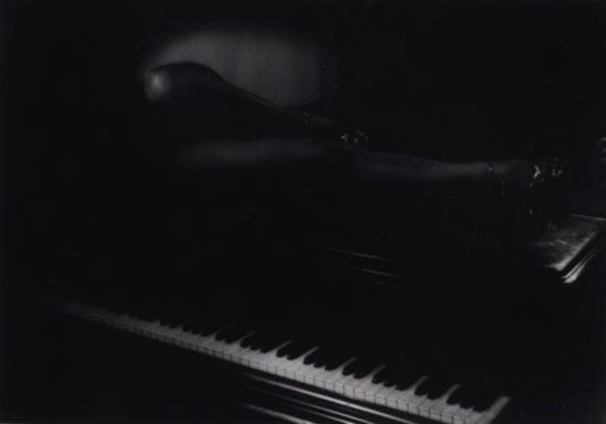 Théodore Zichy Legs on piano 1948. Via ndmagazine