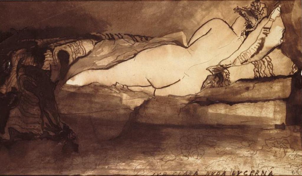 Victor Hugo. Nue sous la claire lumière de la lampe (Sub clara nuda lucerna)