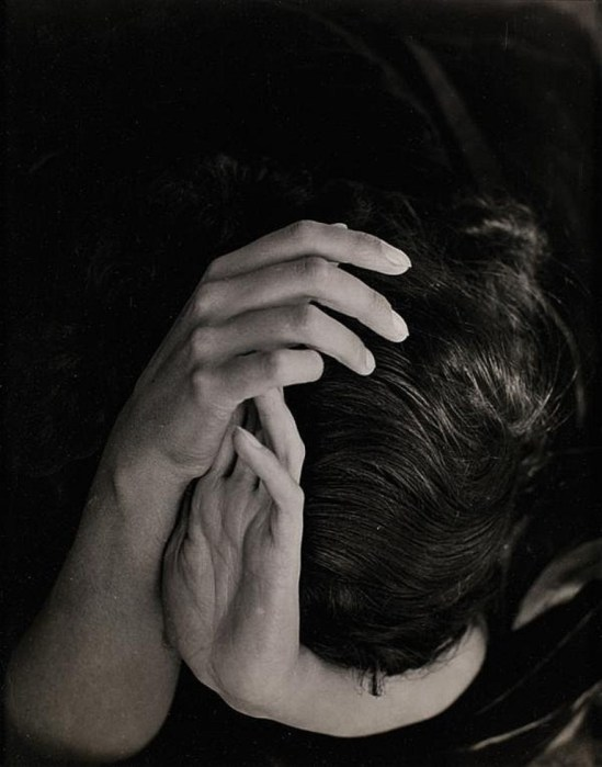 Wols (Alfred Otto Wolfgang Schulze). Sabine Hettner head in hands  1935. Via invaluable