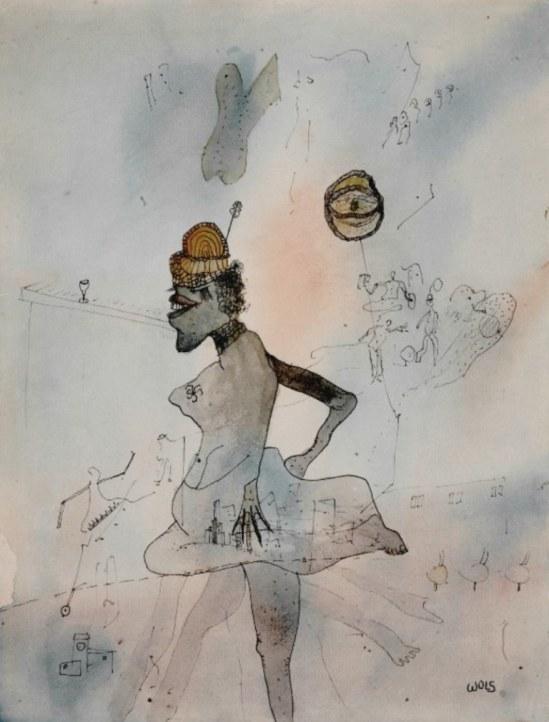 Wols. La danseuse noire 1940. Aquarelle sur papier