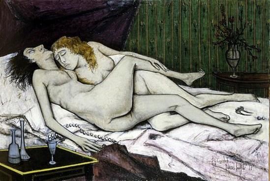 Bernard Buffet. Le sommeil d'après Courbet  1955 © ADAGP