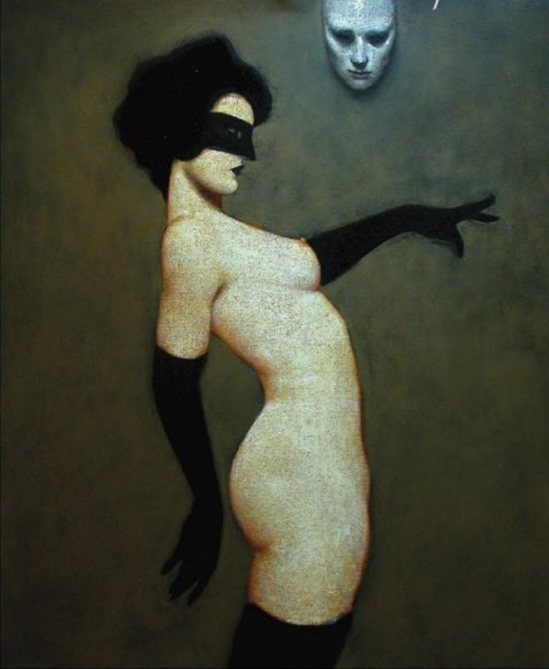 ®Ray Donley. Figure with mask