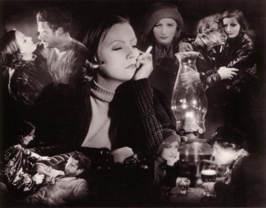 Clarence Sinclair Bull designed this photomontage of Greta Garbo for Anna Christie in 1930. Via garboforever