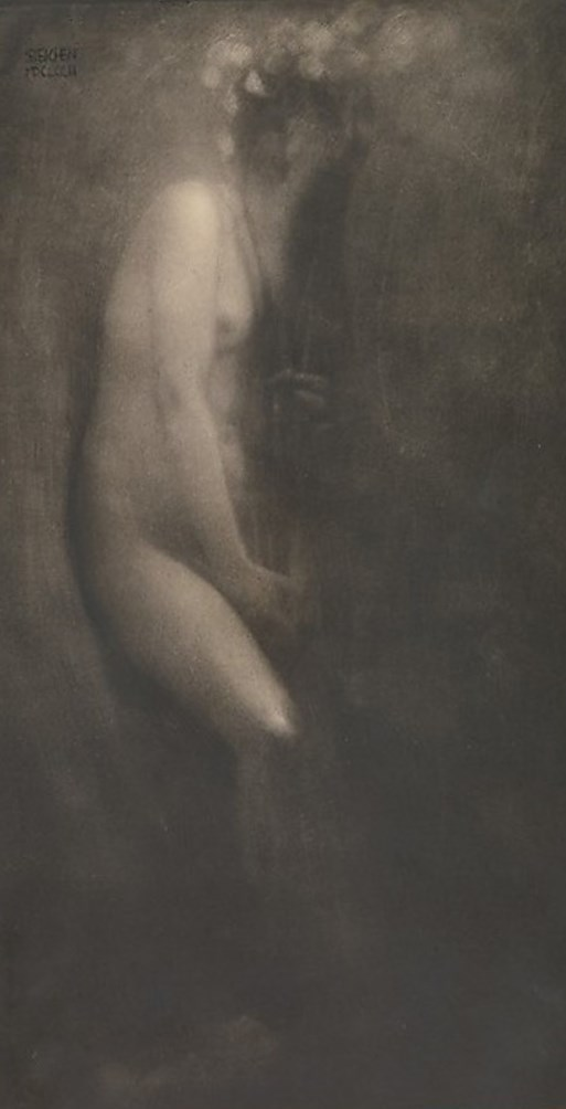 Edward Steichen.  Figure with iris 1902. Via metmuseum