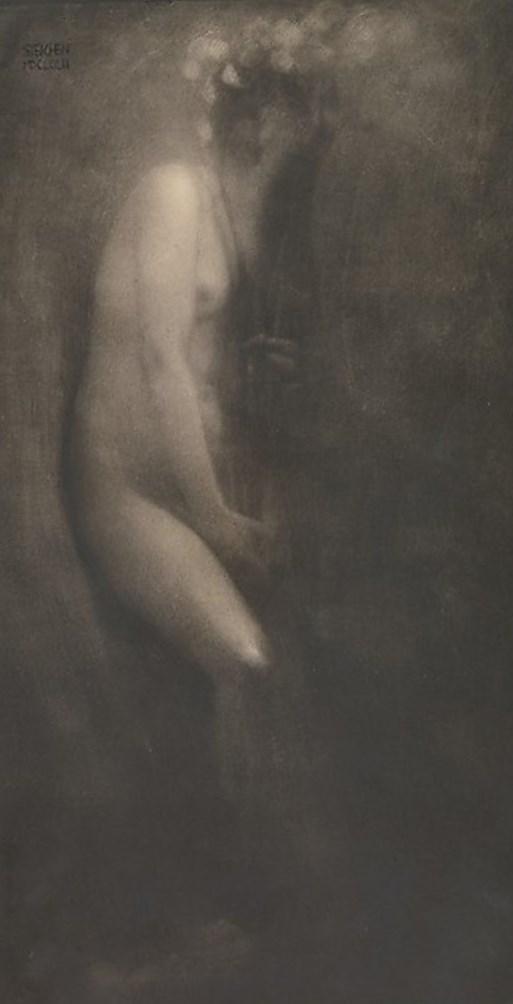 Edward Steichen.  Figure with iris 1902. Via metmuseum