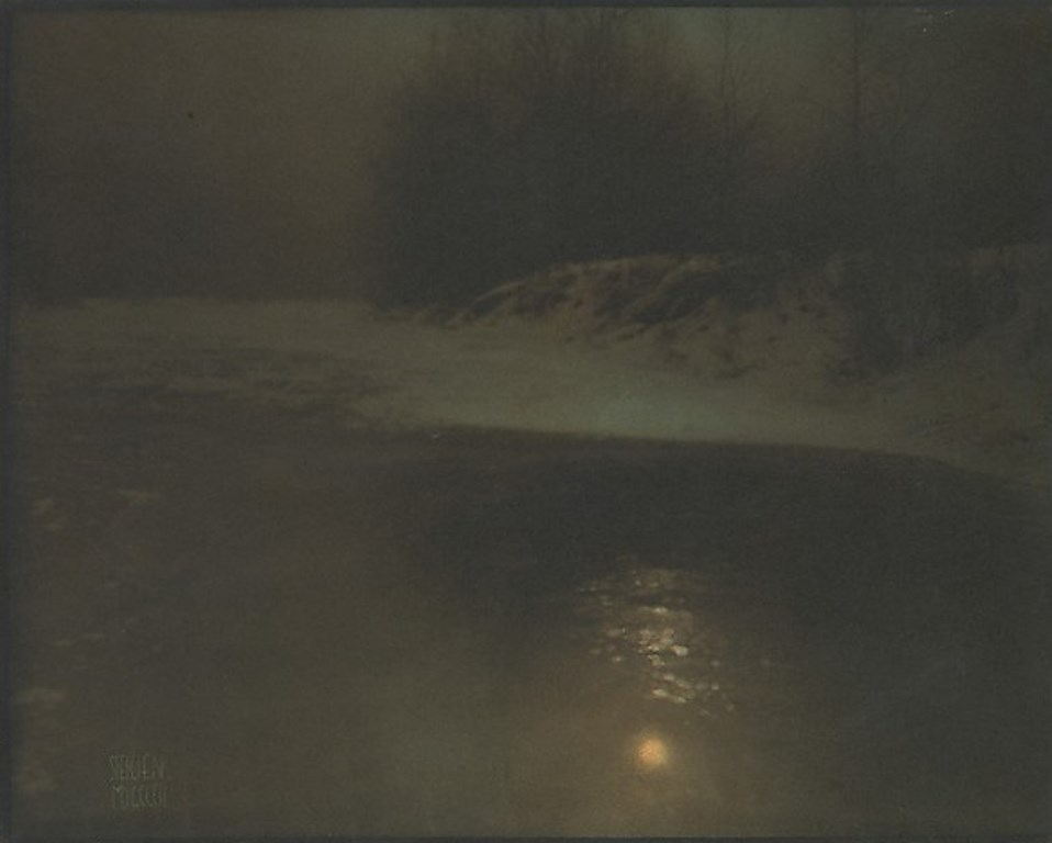 Edward Steichen.  Moonlight, winter 1902. Via metmuseum