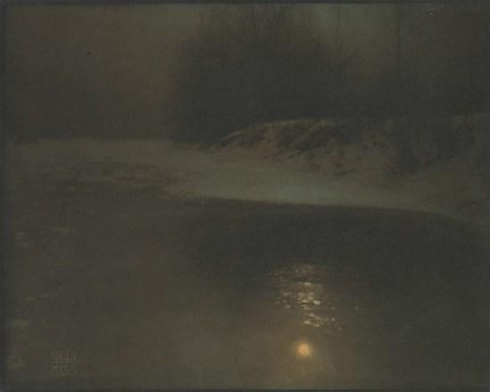 Edward Steichen.  Moonlight, winter 1902. Via metmuseum