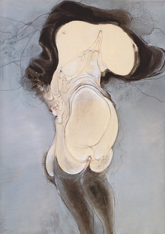 Hans Bellmer. Intertwined people 1936. Via babylonbabys on tumblr