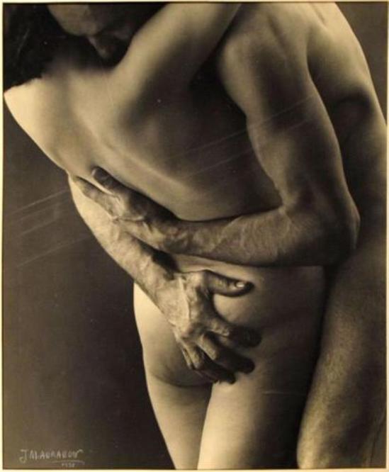 Jean-Marie Auradon. Couple enlacé 1938. Via drouot