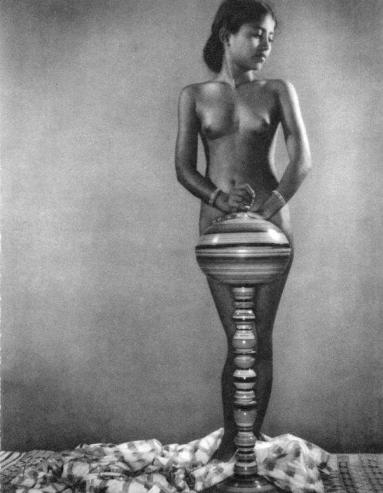 Lionel Wendt. Nude study 1950. Via liveauctioneers