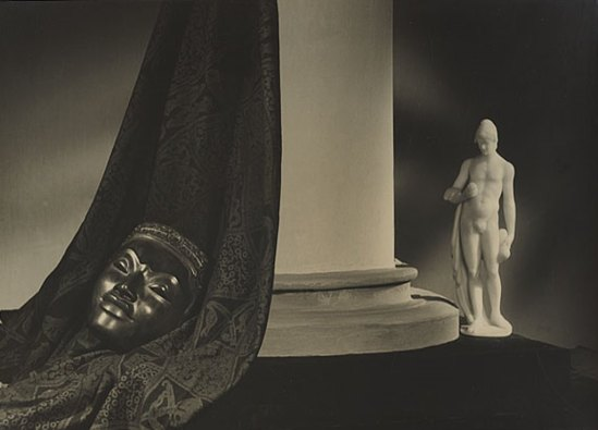 Lionel Wendt. Untitled (still life with mask and statue) 1942. Via nga.gov