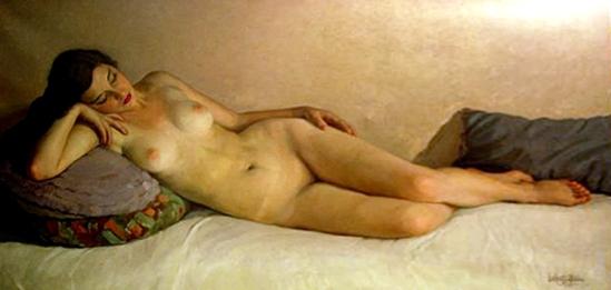 Lluís Martí Gras (1887-1961). Reclining nude