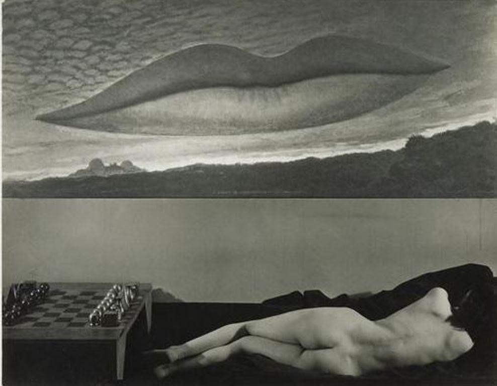 Man Ray. A l'heure de l'observatoire, Les amoureux 1932. Via rmn®Man Ray trust