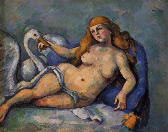 Paul Cézanne. Léda au cygne vers 1880